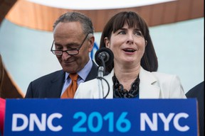 According to AP souces, Amy Dacey, Auburn native, is stepping down as Democratic National Committee CEO due to the DNC email hacking controversy. (Photo by Andrew Burton/Getty Images)