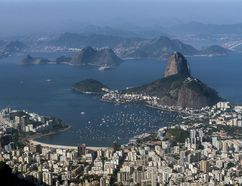 Rio de Janeiro is seen from the air ahead of the 2016 Summer Olympic Games