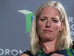 Federal Minister of Environment and Climate Change Catherine McKenna participates in a discussion with Bank of England governor Mark Carney in Toronto on Friday, July 15, 2016. (THE CANADIAN PRESS/Chris Young)