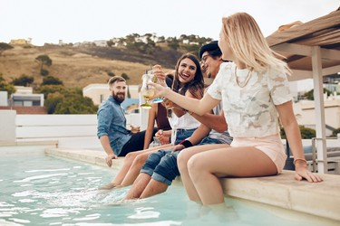 7. Poolside partiers - 28%. (Getty Images)