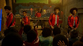 """From left to right: Skylan Brooks, Tremaine Brown Jr., Shameik Moore, Justice Smith and Jaden Smith star in """"The Get Down."""" (Courtesy of Netflix)"""