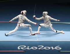 Sabre competition at the Rio Olympics. GETTY IMAGES