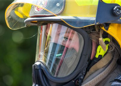 Kalynn Moore waits for her next drill as young women learn firefighting skills during Camp FFIT (Female Firefighters in Training). Camp FFIT provides young women an opportunity to experience first-hand what it takes to be a firefighter � including physical fitness, being a team player and possessing a strong work ethic. It also gives young women the self-confidence to explore a career in one of the most reputable public service professions in the world � firefighting. Wayne Cuddington/ Postmedia