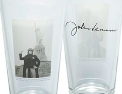 Share a pint of beer with friends in these John Lennon Collectible glasses.