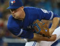 Toronto Blue Jays starting pitcher Aaron Sanchez is pictured during a game against the Houston Astros in Toronto, on Aug. 13, 2016. (Veronica Henri/Toronto Sun/Postmedia Network)