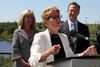Premier Kathleen Wynne in Kenora on Wednesday, Aug. 10 where she participated in a funding announcement for the Experimental Lake Area and visited with Mayor Dave Canfield and aboriginal leaders. (SHERI LAMB/Daily Miner and News/Postmedia Network)