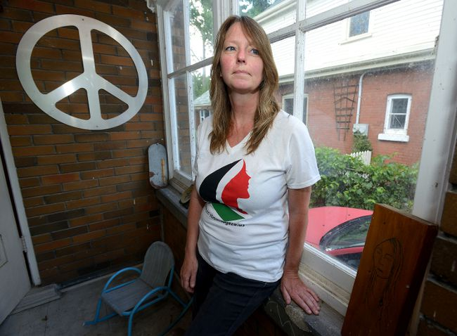 Wendy Goldsmith of London will be on board the Women's Boat to Gaza this September, a $200,000 initiative part of the Freedom Flotilla Coalition. The international project is building up momentum in order to fight against the illegal blockade on Gaza through port visits. Photo taken on Monday July 25, 2016.
