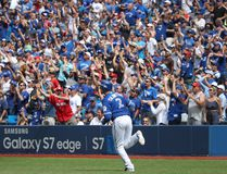 Troy Tulowitzki #2 of the Toronto Blue Jays circles the bases as he hits a three-run home run in the fifth inning during MLB game action against the Houston Astros on August 14, 2016 at Rogers Centre in Toronto. (Tom Szczerbowski/Getty Images)