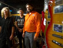 Steven Kovacs, Boris Novosel and Ryan Schroeyens of the PA Shop have opened a guitar shop upstairs specializing in vintage instruments. (MIKE HENSEN, The London Free Press)