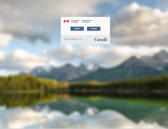 Screen shot of Canada.ca website