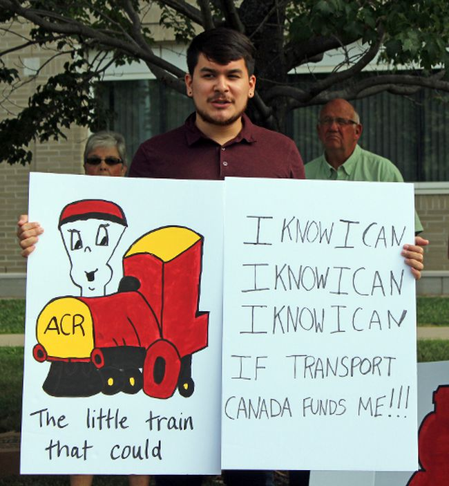 (Charlie Pinkerton/Special to The Sault Star) Brendan Sutherland, from Hearst, Ont., talks about the impact that the lack of a passenger train on the Algoma Central Railway has had on his ability to visit his hometown.