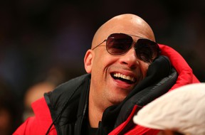 Actor Vin Diesel attends the NBA All-Star Game 2016 at the Air Canada Centre on February 14, 2016 in Toronto, Ontario. NOTE TO USER: User expressly acknowledges and agrees that, by downloading and/or using this Photograph, user is consenting to the terms and conditions of the Getty Images License Agreement. (Photo by Elsa/Getty Images)