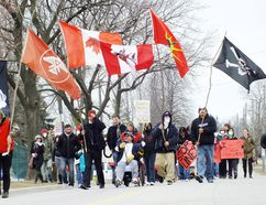 This file photo from March 2013 shows that year's Toxic Tour through Chemical Valley in Sarnia. This year's tour is set for Sunday and is set to follow a two-day Aamjiwnaang Water Gathering. (File photo)