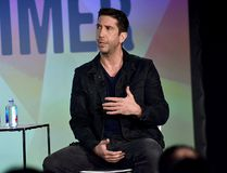 David Schwimmer speaks at 'David Schwimmer: In Conversation' at the Vulture Festival at Milk Studios in New York City, on May 21, 2016. (Bryan Bedder/Getty Images for Vulture Festival)