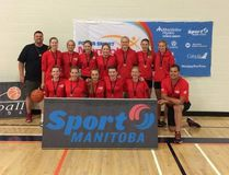 The 16U female basketball team brought home bronze after the Power Smart Manitoba Games Aug. 7-13, 2016. (submitted image)