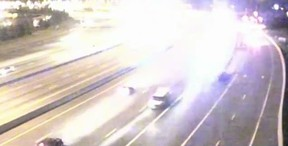 Wrong-way chase on Hwy. 401 in Whitby.