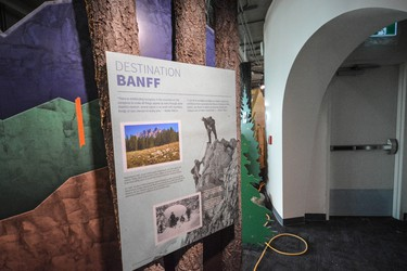An interpretive panel in the Above Banff interpretive gallery on the Banff Gondola upper terminal's second floor, which opens to the public on Saturday, August 20, 2016. (Daniel Katz/ Crag & Canyon/ Postmedia Network)