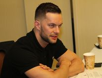 World Wrestling Entertainment superstar Finn Balor discusses SummerSlam at a news conference in Brooklyn, N.Y., on Friday. (George Tahinos/SLAM! Wrestling)