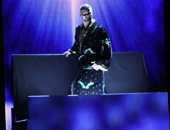Peterborough's Bobby Roode is lowered to the entrance ramp during his NXT debut at NXT Takeover Brooklyn II on Saturday night in Brooklyn, N.Y. Roode won his debut. (George Tahinos/SLAM! Wrestling)