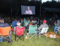 Families attended the screening to of 'Angry Birds' at Spruce Haven Park on Sunday, August 21.
