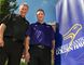 Peter Baxter (left), Wilfrid Laurier University athletic director, has hired Cory Currie as the coach of Laurier's new cross country varsity team at the Brantford campus. (Brian Thompson/The Expositor)