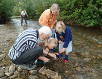 Lots of folks still pan for gold on Bonanza Creek or other rivers in the Dawson City area. PHOTO COURTESY YUKON TOURISM
