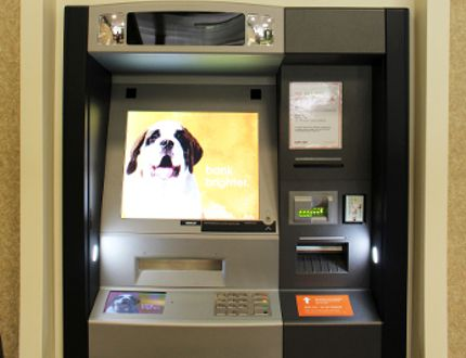 One of Sunova Credit Union's new ATMs. (Kelsey Schaefer, Interlake Publishing, Postmedia Network0