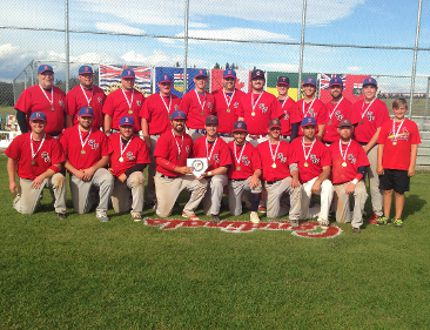 The Border West baseball all-star team, with representatives from teams across the league, was successful in its title defence attempt at the Western Canadian 'AA' All-Star Tournament. (Submitted)