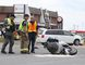 Greater Sudbury Police and Fire services are on the scene of a collision between a van and motorcycle in Sudbury, Ont. on Wednesday August 24, 2016. Regent street is closed in both directions at Deluxe Hamburgers until the investigation is complete. Gino Donato/Sudbury Star/Postmedia Network