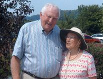Bill and Joy Robson, owners of Greenhill Gardens, near Wilkesport, on Saturday August 20.