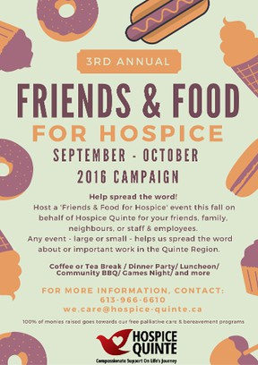 hospice quinte friends and food