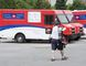 A postal worker walks past Canada Post trucks at a sorting centre in Montreal, Friday, July 8, 2016. Employment Minister MaryAnn Mihychuk says in a statement that she expects both Canada Post and the Canadian Union of Postal Workers to use the special mediator to come to a resolution and avoid job action. (THE CANADIAN PRESS/Ryan Remiorz)