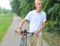 Parker Bowman, 17, enjoys using the trails in Simcoe as a way to get across town quickly. The health unit would like to see better pedestrian connections to the county's trail system. DANIEL R. PEARCE/SIMCOE REFORMER