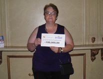 Alice Nadon of Huron Park won $100,000 from the Instant Bingo doubler. (Contributed photo)