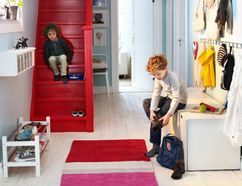 Organize your entry way so it's a welcome sight for you, your kids and visitors when they arrive.