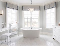 Shutters are still popular and make an excellent choice in bathrooms or places that you want good privacy and easy operation.