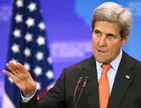 <p>U.S. Secretary of State John Kerry holds a news conference at the conclusion of the Meeting of the Ministers of the Global Coalition to Counter ISIL at the State Department in Washington, Thursday, July 21, 2016.</p><p> AP Photo/Cliff Owen