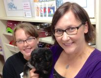 New assistant shelter manager Heather Wolfe and new shelter manager Rachel Dell pose with four-month-old puppy Tasha. (Submitted photo)