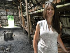 Rhonda Bathurst, the incoming executive director of the Ontario Museum of Archeology, at the museum's reconstructed indigenous longhouse in London Ont. August 25, 2016. CHRIS MONTANINI\LONDONER\POSTMEDIA NETWORK