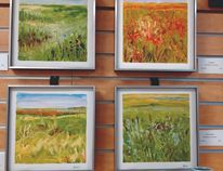 Edie Marshall's grassland series oil on paper. (SUBMITTED)