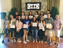 Young people, aged 17 to 24, graduate from the Hodinohso:ni Ambassador Program at Six Nations Polytechnic. (Submitted Photo)