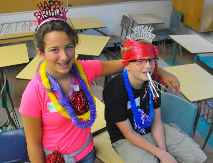 Bridgette Patriquin (left) and Joseph Zeibar, both 14, took part in a Grade 9 orientation day held at the school on Wednesday, Aug. 31, 2016. The day included a tour as well as games. DANIEL R. PEARCE/SIMCOE REFORMER