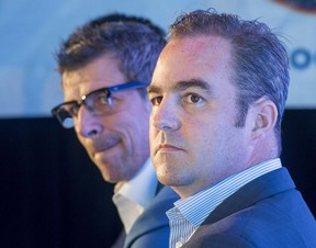 Montreal Canadiens general manager Marc Bergevin, left, and team owner Geoff Molson. (THE CANADIAN PRESS/Ryan Remiorz)