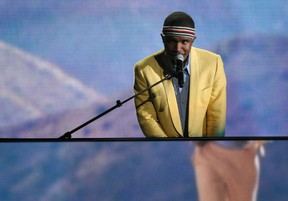 In this Feb. 10, 2013, file photo, Frank Ocean performs on stage at the 55th annual Grammy Awards in Los Angeles. (Photo by John Shearer/Invision/AP, File)