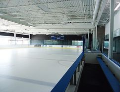 Local operators are hoping to open The Pond at Rhino Sports and Play, a scaled-down, real-ice rink, at the old Zellers property on Bell Boulevard in October. The facility will resemble the above rink, in Minnesota. (Submitted photo)