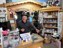 """Adi Unterberger bills himself as """"The Yodelling Woodcarver."""" He emigrated to Canada from Austria and now runs a gift shop in Kimberley, B.C. JIM BYERS/Special to Postmedia Network"""