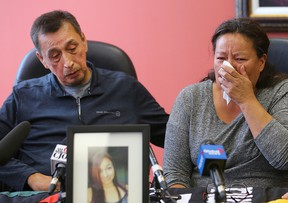 Melinda and George Wood, Christine's parents, issued a plea to the public to help find her at a media conference Tuesday morning.