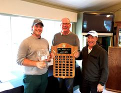 Local golfer Tyson Beaupre, left, captured his second local Men's Open title of the season with a three-day total of 205 on Sept. 5 at the Grande Prairie Golf and Country Club's Men's Open. In July, Beaupre also captured his fourth Men's Open title at the Dunes Golf and Winter Club. PHOTO SUBMITTED