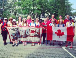 Part of the Canadian contingent attending World Youth Day in Poland. Handout/Cornwall Standard-Freeholder/Postmedia Network