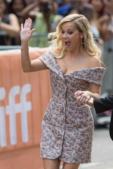 """Reese Witherspoon on the red carpet for the movie """"Sing"""" during the Toronto International Film Festival in Toronto on Sunday September 11, 2016. (Craig Robertson/Postmedia Network)"""